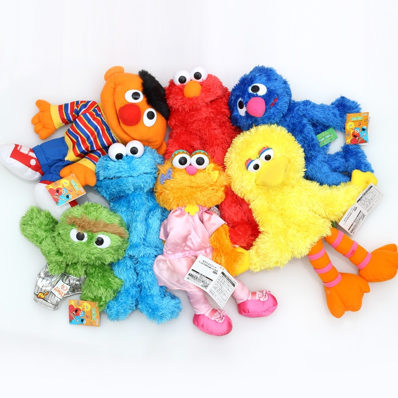 Anime Sesame Street Elmo Cookie Monster zoe big bird grover Soft Plush Toy Soft Doll Stuffed Plush Toy gift