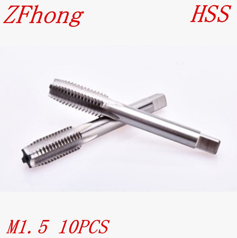 10 piezas M1.5 * 0,35 m1.5 alta calidad HSS rosca derecha Tap métrico Tapper Plug