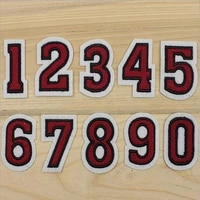 number patches word embroidered iron on patch figure digit for diy stripes motif appliques garment clothes badge