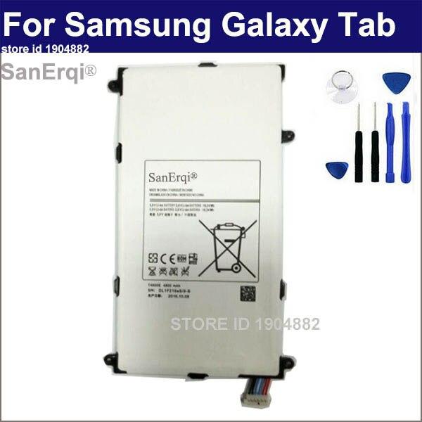 SanErqi T4800E Para Samsung Galaxy Tab Pro T320 T321 8.4in SM-T325 4800 mAh Bateria Batterie Bateria