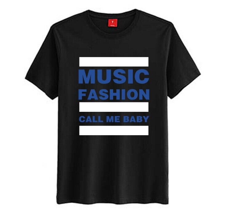 Fashion kpop exo call me baby mv d.o same blacl t-shirt music fashion printing short sleeve t shirt  lovers top tee