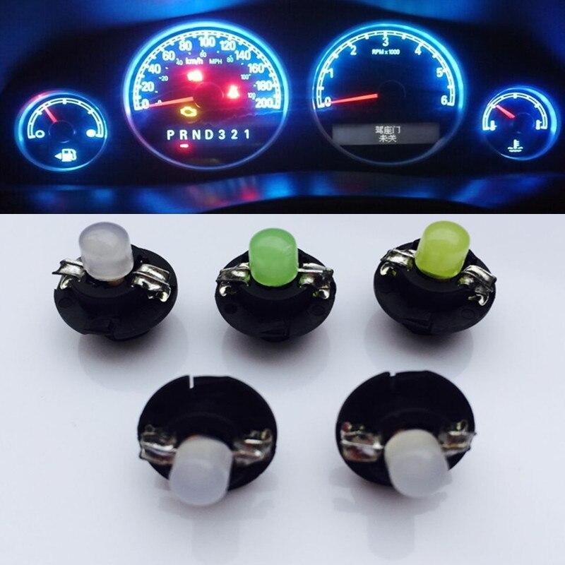 10 Uds T5 B8.4D B8.4 bombilla Led para coche, medidor de clúster COB, instrumentos de tablero, luz de tablero, indicador Interior de 12 V, lámpara de señal azul