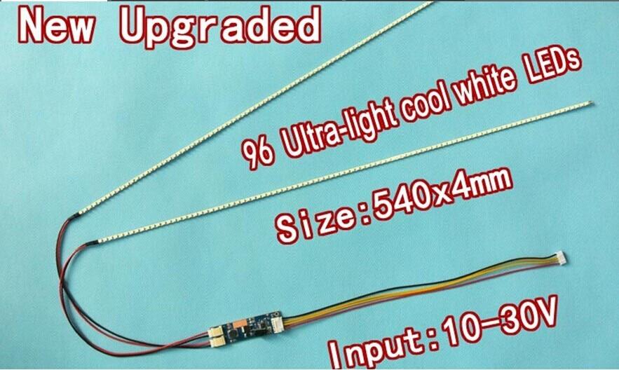 NEW 5PCS 24'' 540mm Adjustable brightness led backlight strip kit,Update 24inch-wide LCD CCFL panel to LED backlight