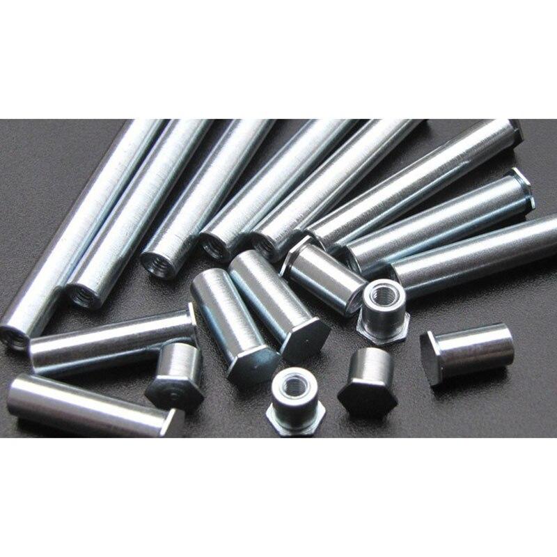 100 unids/lote M3 * 3/4.5/5.5/6.5-50 zinc blanco y azul remache agujero tornillo remache tuerca standoffs agujero no estándar diámetro 5. 4mm919