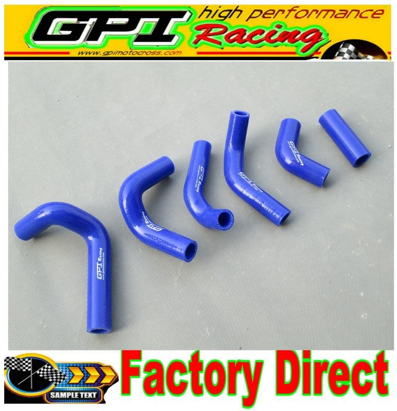 De alto rendimiento de silicona de la manguera del radiador para HUSQVARNA HVA TE TC TE250 TC250 01-09 08 07 06 05 04 azul