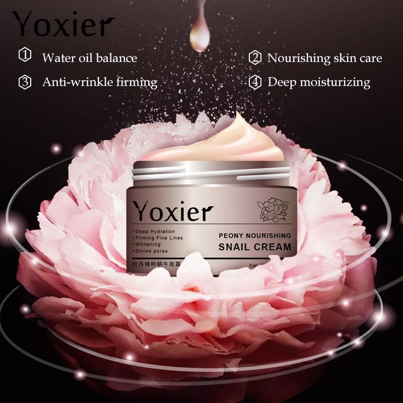 Купить с кэшбэком Day Creams Moisturizers Korean Cosmetics Secret Skin Care Snail Cream Hyaluronic Acid Essence Cream For Face Anti Aging Wrinkle
