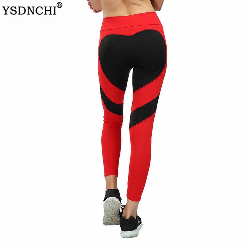 Ysdnchi amor impresso legging exercício roupas das mulheres leggings esportivos vermelho preto branco calças de fitness treino jegging gym leggins