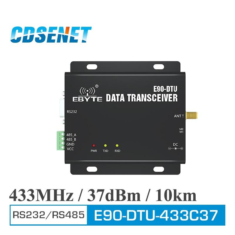E90-DTU-433C37 Wireless Transceiver RS232 RS485 Modbus 433MHz 5W Long Range 10km PLC Transceiver and Receiver Radio Modem lora wireless module rs232 rs485 433mhz tcxo cojxu e90 dtu 433l30 wireless transceiver long range 8km plc receiver radio modem