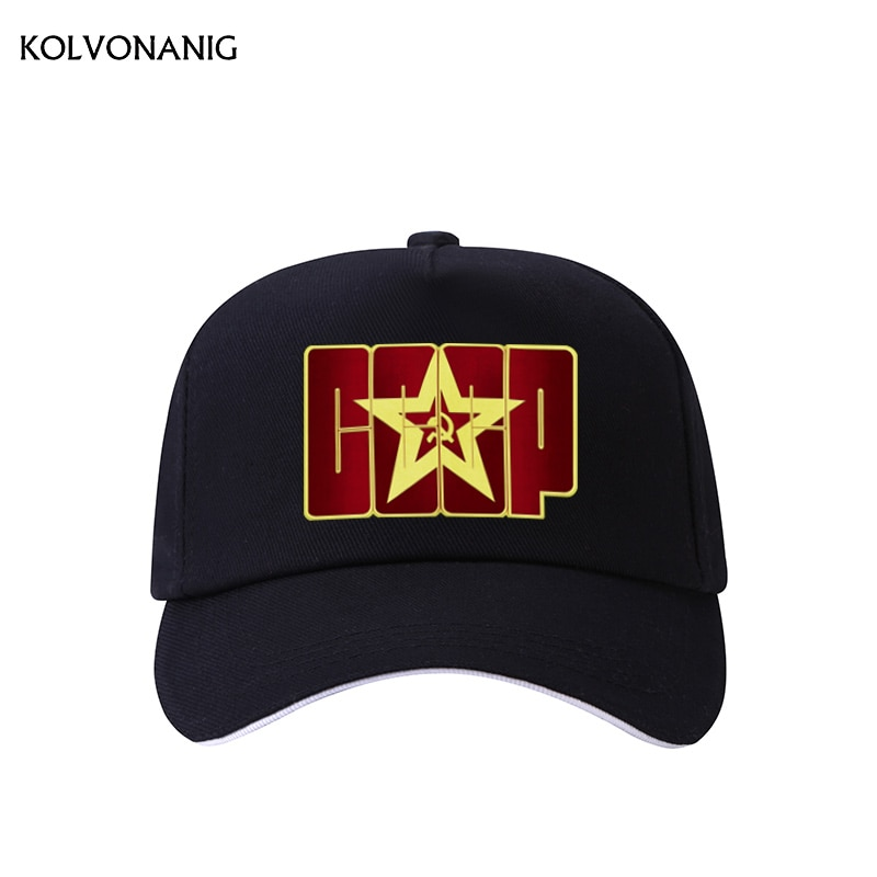 KOLVONANIG 2019 New CCCP USSR Russian Hot Selling Style Printed Baseball Cap Men Women Unisex High Quality Cap Hats