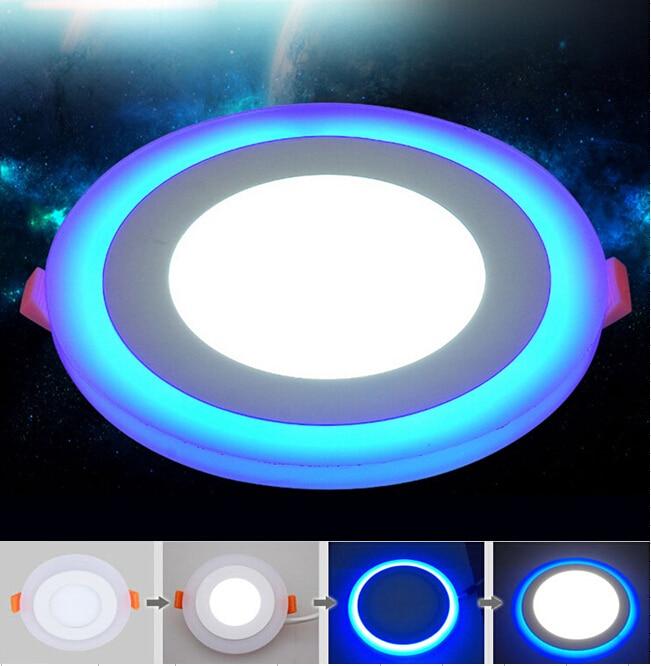 Nuevo diseño de Panel de luz descendente LED redonda 6W 9W 16W 3 modelo de luces de Panel LED AC85-265V luces de techo empotradas CE ROHS