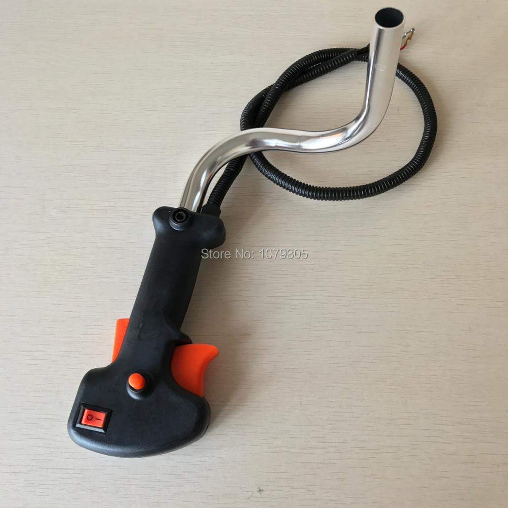 140 GX35 триммер для травы, 19 мм ручка, переключатель, трос триггера дроссельной заслонки, подходит для триммера 26 мм