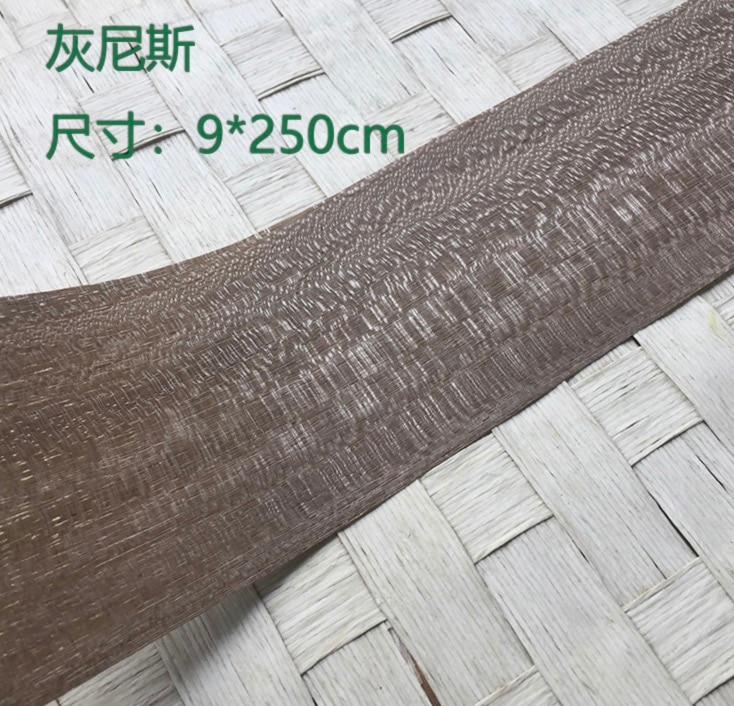 5 unids/lote L 2,5 metros de ancho 9 cm de espesor 0,25mm bueno chapa de madera de la ceniza de la chapa de la tecnología