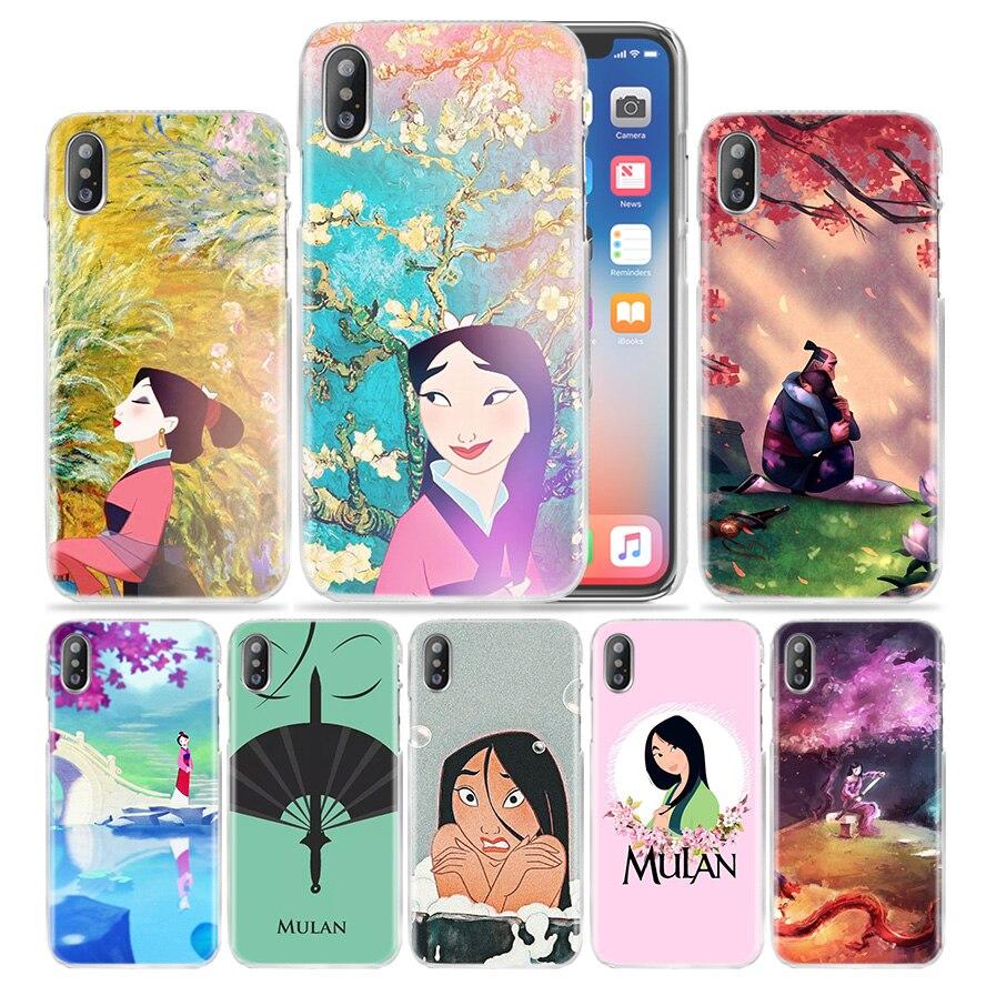 Mulan Anime Case for iPhone 11 Pro XS Max XR X 10 7 7S 8 6 6S Plus 5S SE 5 4S 4 5C Hard PC Plastic Fundas Capa Phone Cover Coque