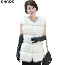 New  Arrival Winter Warm Fashion Women Import Coat Fur Vest High-Grade Faux Fur Coat Fox Fur Long Ve