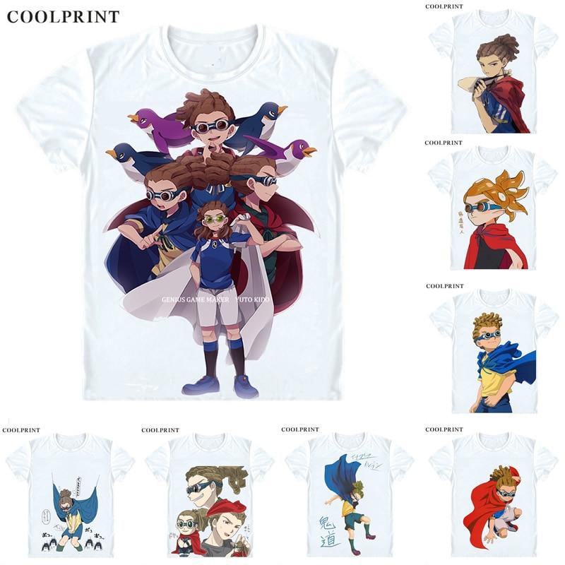 Coolprint Kidou Yuuto T Shirt Inazuma Raimon Eleven Legend Japan Men Casual TShirt Premium T-Shirt Printed Short Sleeve Shirts