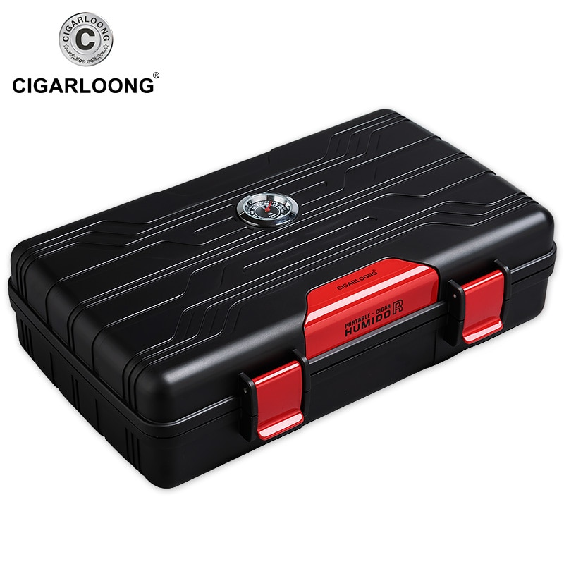 CIGARLOONG caja de cigarros portátil de viaje 10 palitos humidificador de puros estuche Humidor de CA-01