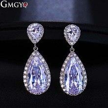 GMGYQ mode classique boucles doreilles en zircone goutte deau bijoux de mariage de la mariée boucles doreilles en gros accessoires pour femmes cadeaux