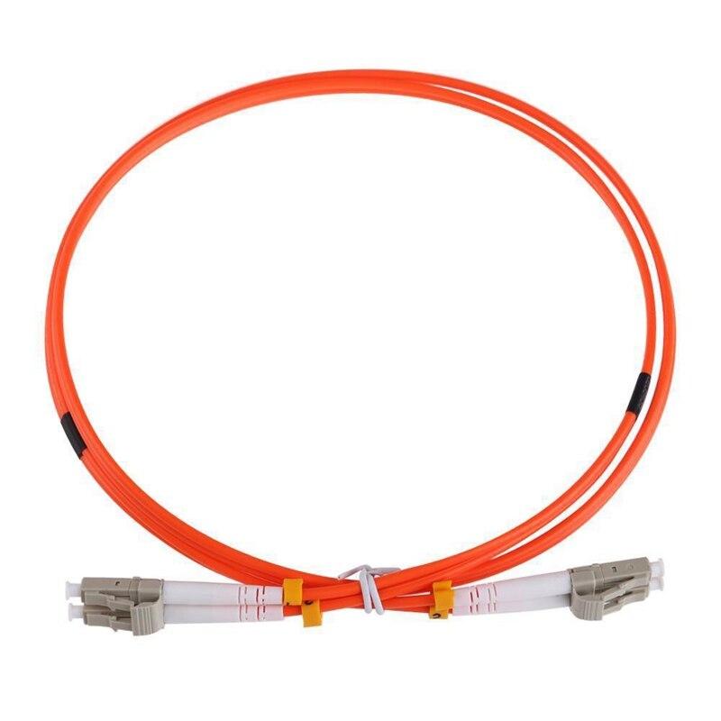 Cable de puente de 1M LC-LC multimodo dúplex LC a Cable de parche óptico de fibra óptica LC