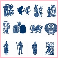 egypt mythical people diy metal cutting dies scrapbooking template crafts card album embossing stencil new dies 2019