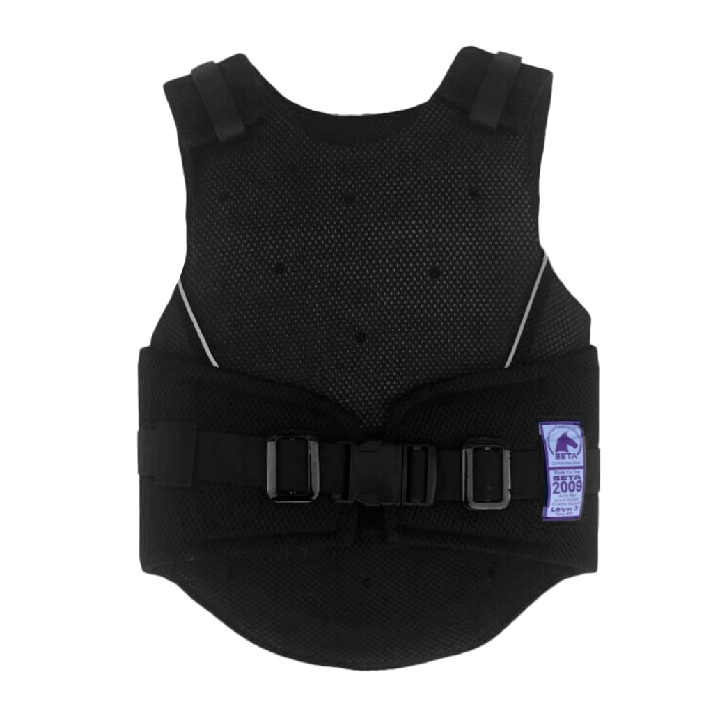 Adjustable Equestrian Horse Riding Vest Protective Waistcoat Body Protector Guard for Kids 3 Size Options