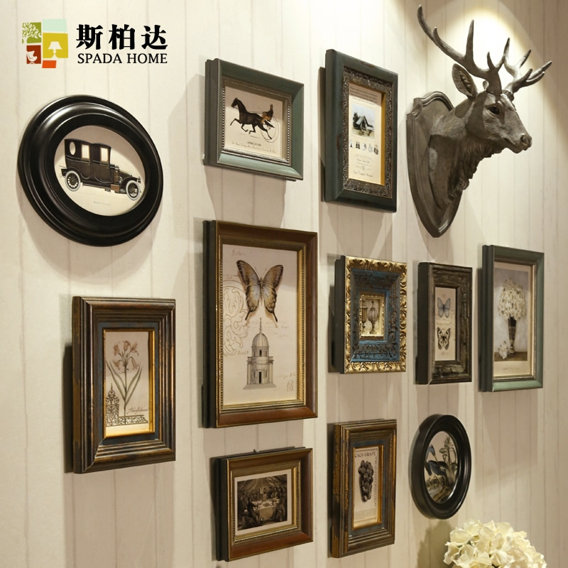 Marcos de Foto de madera marcos de fotos Para marco moderno de pared Para lienzo 12 unids/set Marco de imagen conjunto de pared Moldura Para Foto