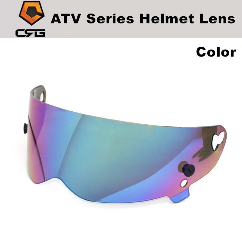 Crg atv série capacete lente pc 3mm 5 cores viseira universal para crg 1-5 lente do capacete da motocicleta simpson star wars porco capacete lente