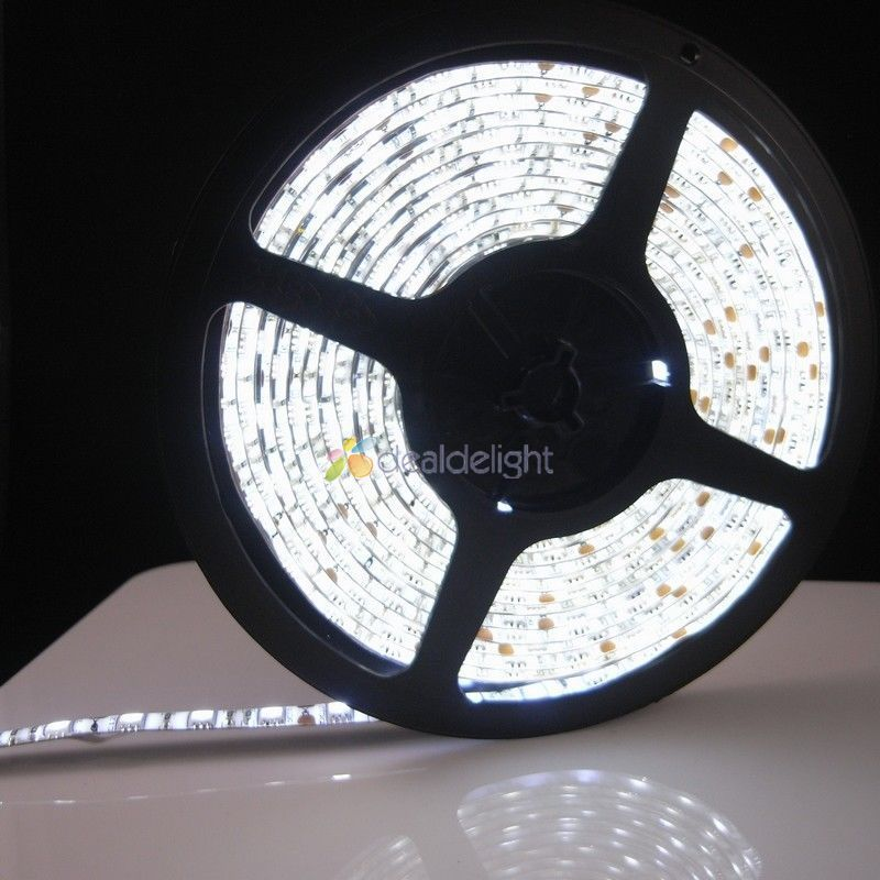 Resistente al agua 5 m 300LED 3528 LED tira flexible de luz 12 V 60led/m LED la cinta. RGB/Blanco/blanco cálido/azul/Verde/rojo/amarillo