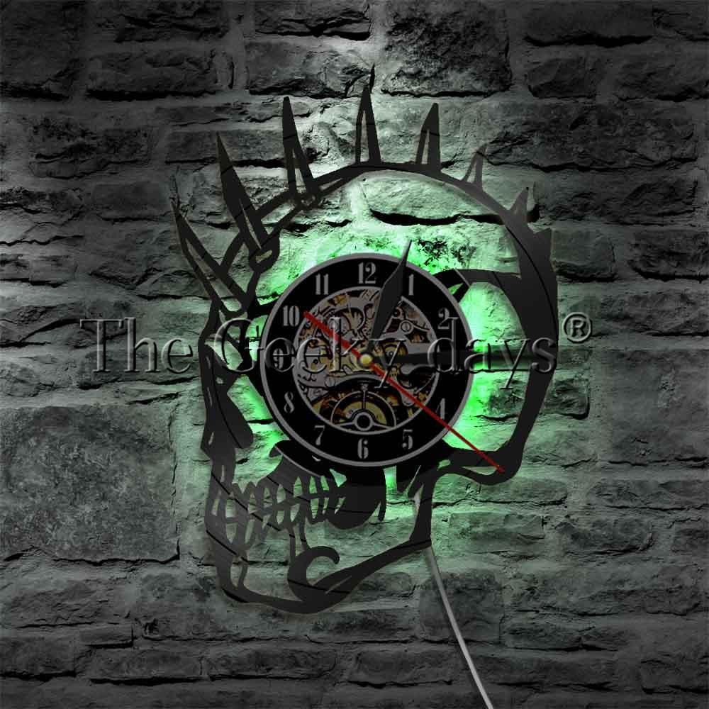 1 unidad de luces LED Punk con diseño de calavera Mohawk, iluminación decorativa con diseño de calavera muerta, decoración para el hogar, señal de Bar y Cueva para hombre, lámpara de pared contemporánea