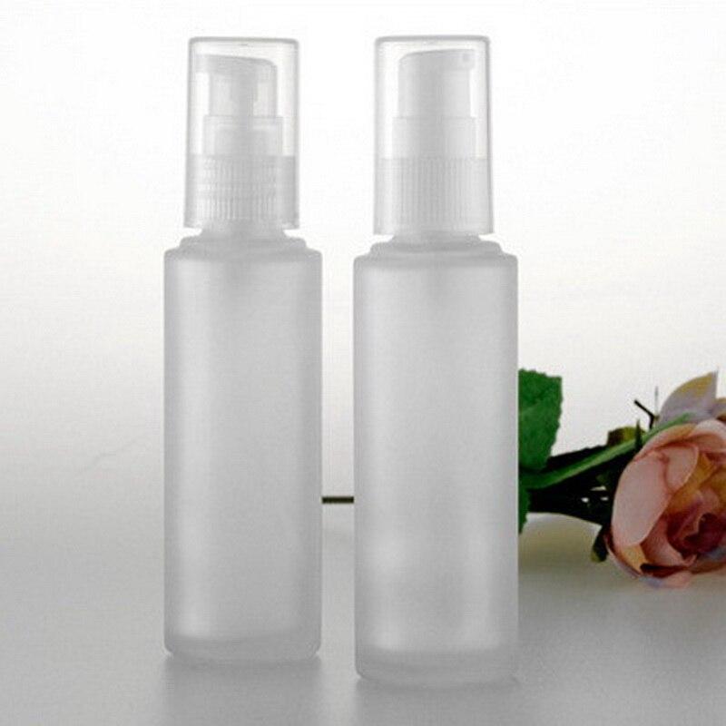 20pcs/lot 50ml Matt Glass Beak Pump Lotion Bottle With Plastic Pump Empty Spray Perfume Bottle For Packaging Fragrance