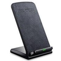 Беспроводное зарядное устройство Qi, кожаное Беспроводное зарядное устройство, зарядная площадка для SamsungS8 Plus S7 edge Note 8 iPhone 10X8, зарядное устро...