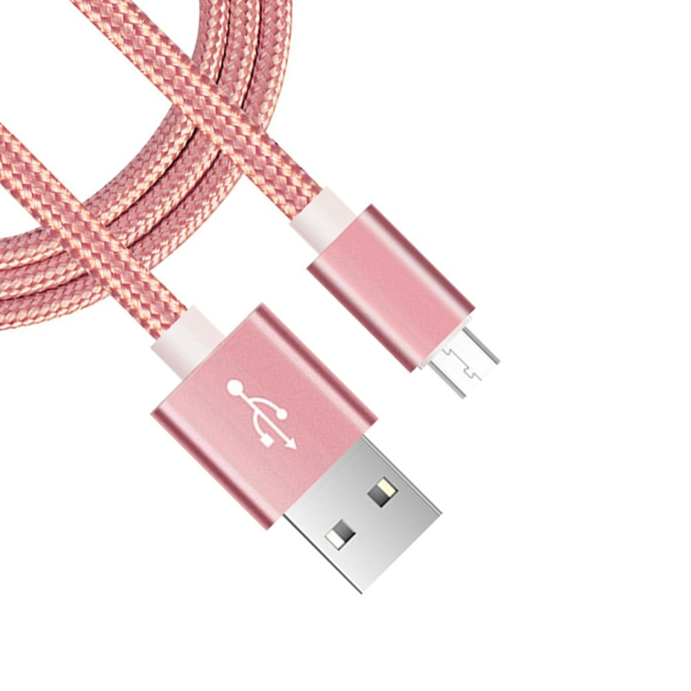 Micro USB Cable 2A 1m Fast Charging Nylon USB Sync Data Mobile Phone Adapter Charger Cable For Samsung Sony HTC LG Cable