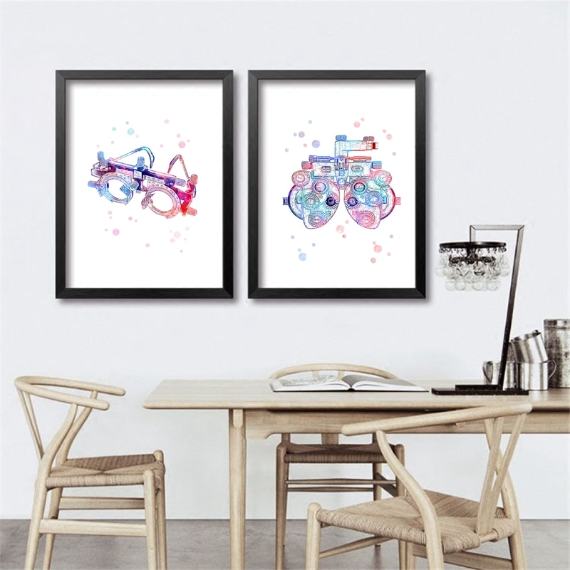 Trial Frame Optometrical Tools Art Optical Poster Prints , Optometry Instrument Painting Eye Clinic