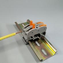 10 adet 1 Pin Din ray evrensel kompakt tel kablo konnektörü İletken terminal bloğu
