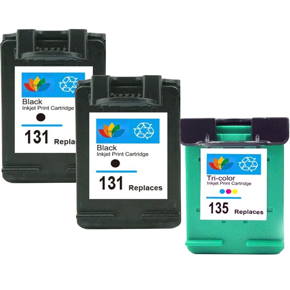 Cartuchos de tinta para HP recargado 131 135 DESKJET 6540 6540D 6540DT 6543 PSC 1500 1510 1513 1610 2300 2600 2610 C3183 3