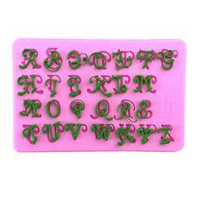 1 sztuk kreatywny napis alfabet silikonowe formy wielkie narzędzia do dekorowania ciast masą cukrową Gumpaste czekolada Fimo glina forma do cukierków