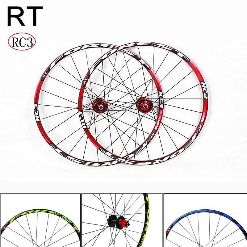 Montaña ruedas de bicicleta RT RC3 26/27 5 pulgadas 24 pulgadas agujeros de freno de disco seis agujeros Centerlock MTB bicicleta ruedas 2/5 rodamientos sellados