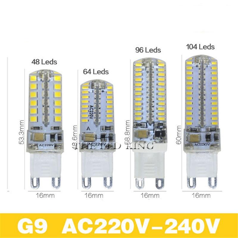 G9 g4 Светодиодный светильник для кукурузы AC220V 3014 7 Вт 9 Вт 12 Вт 15 Вт 3014 Светодиодный силиконовый светильник с кристаллами для замены 40-80 Вт галогенные лампы Рождественский светильник