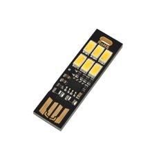 Mini Portable Adjust Brightness 6 LED Night Lights Finger Touch Lamp Dimmer Pocket Card USB Power for Power Computer Laptop