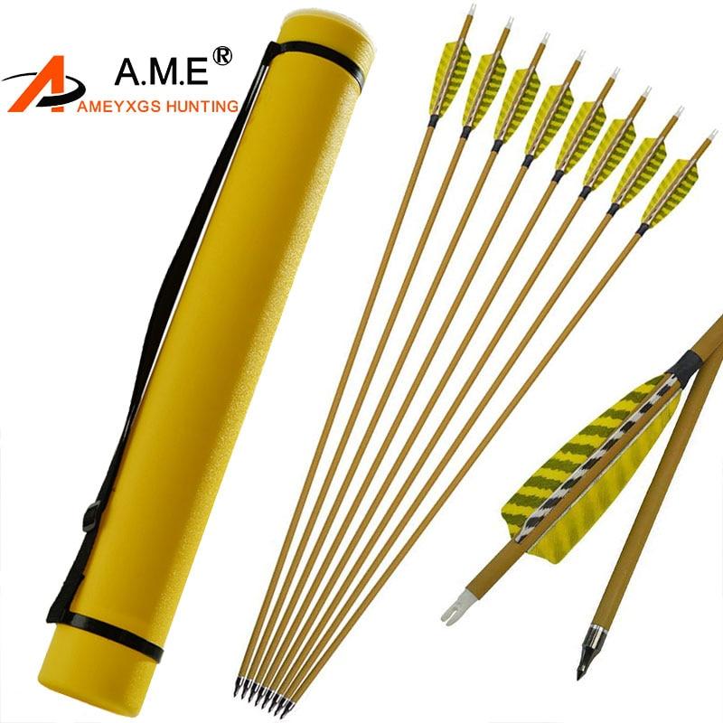 """12 Uds tiro con arco 30 Spine 450 id6.2 mm Mix flechas de carbono 4"""" pluma reemplazable punta de flecha para accesorios de caza al aire libre"""