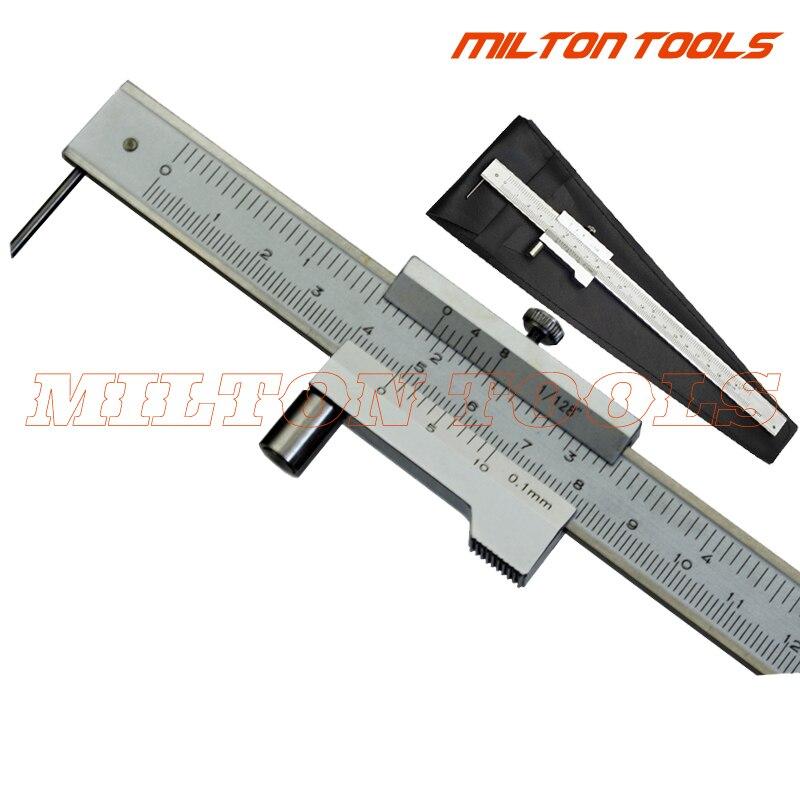 0-200mm 0-300mm 0-400mm 0-500mm Acero inoxidable marcado paralelo Calibre Vernier con herramienta de trazador de carburo Indicador de marcado
