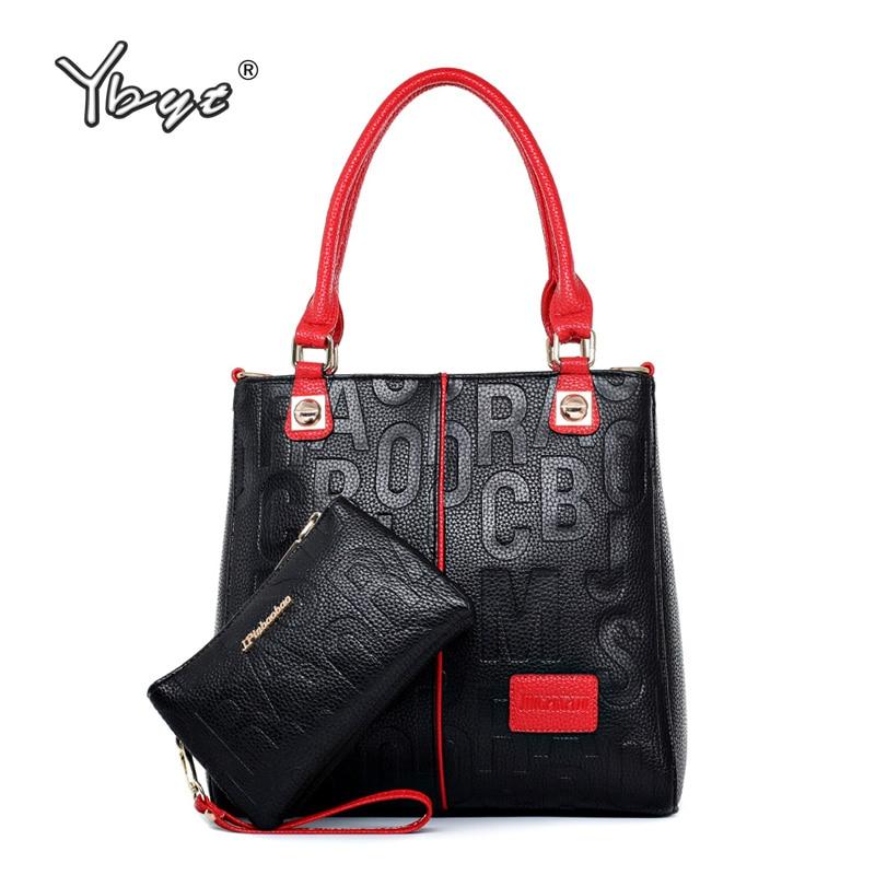 YBYT Brand New Fashion Woman Luxury Handbag Large Capacity Composite Bag Ladies Leather Shoulder Messenger Bag Totes Purse 2019