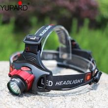YUPARD inductif phare 3 Mode XM-L T6 led capteurs infrarouges lampe frontale Rechargeable lampe torche lumière pour Camping pêche