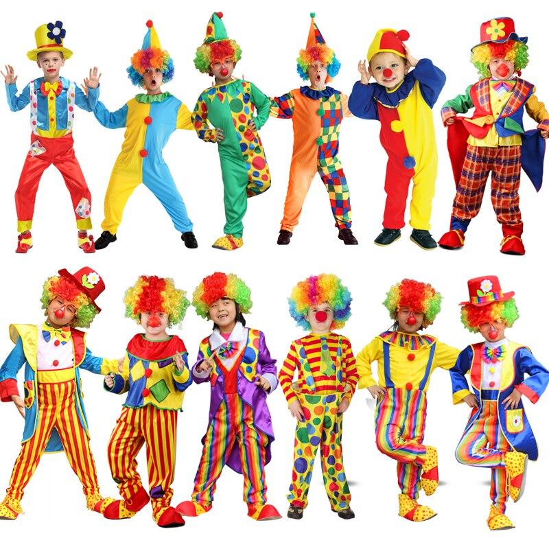 Праздничные карнавальные разнообразные Смешные Костюмы Клоуна Рождество взрослый костюм Джокера для мальчиков и девочек косплевечерние н...