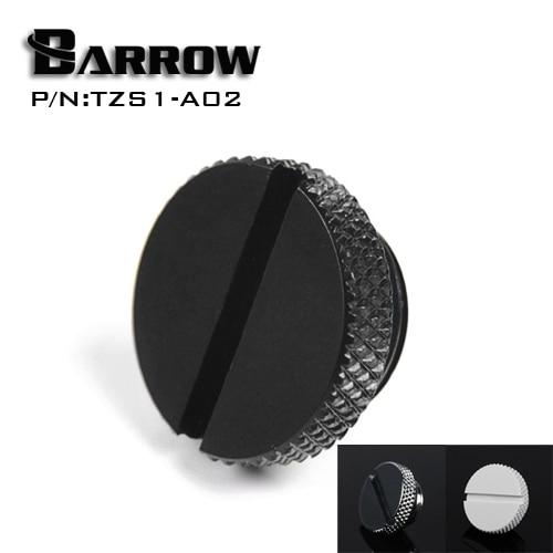 Barrow TZS1-A02/YKLZS1-T01 , G1/4 ''blanco negro plata oro acrílico agua refrescante plug, monedas se pueden utilizar para girar el enchufe