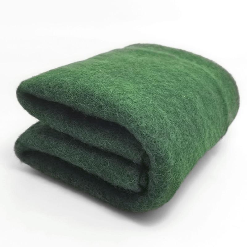 Kostenloser versand wolle Batt/semi-filzen wolle für nadel filz, filzen nadel, Spinning faser, foto requisiten dunkelgrün