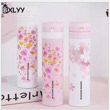 BXLYY 450 мл нержавеющая сталь вишневый цвет креативная изоляционная бутылка для воды свадебные сувениры и подарки термос спортивный Шакер. 6z