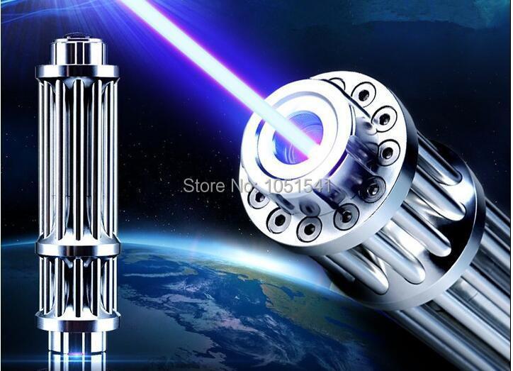 Puntero láser azul superpotente militar 500W 500000m 450nm linterna que quema fósforo/madera seca/quema cigarrillos Lazer caza