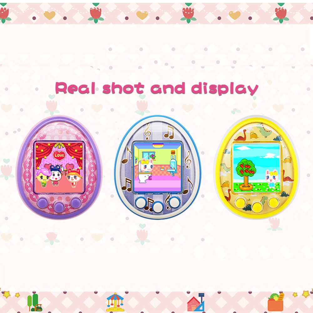 Mini mascota electrónica de dibujos animados nostálgicos de los años 90, carga USB, máquina de citas, máquina de Chat, juguete para mascotas para regalo para niños adultos