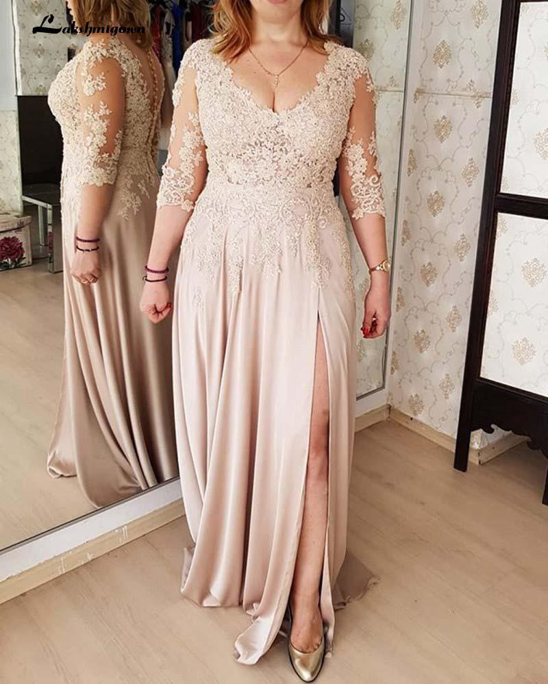 Corpiño de ilusión largo para madre de la novia, vestido con abertura...