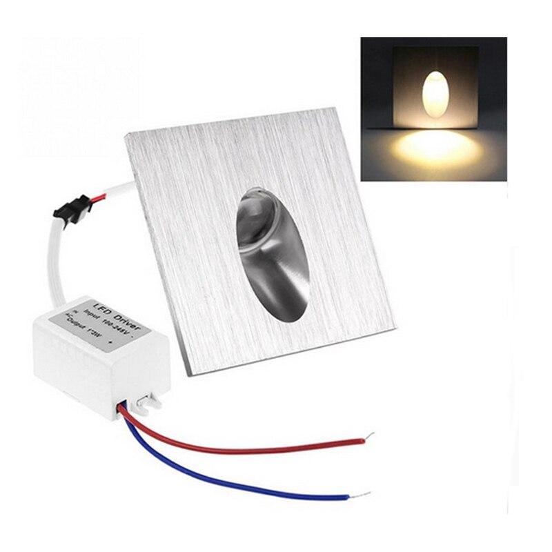 Lámpara led de pared 1W 3W camino del pórtico empotrado Luz de escalera bombilla de sótano foco LED decoración moderna del hogar AC 85-265V